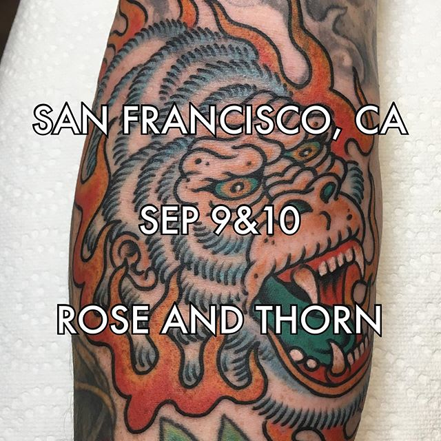 Super excited to work a couple of days back out in the bay, I'll be spending a couple of days at @rose_and_thorn_sf , please DM me or email me if you want to book! #bayarea #yee #guestspot