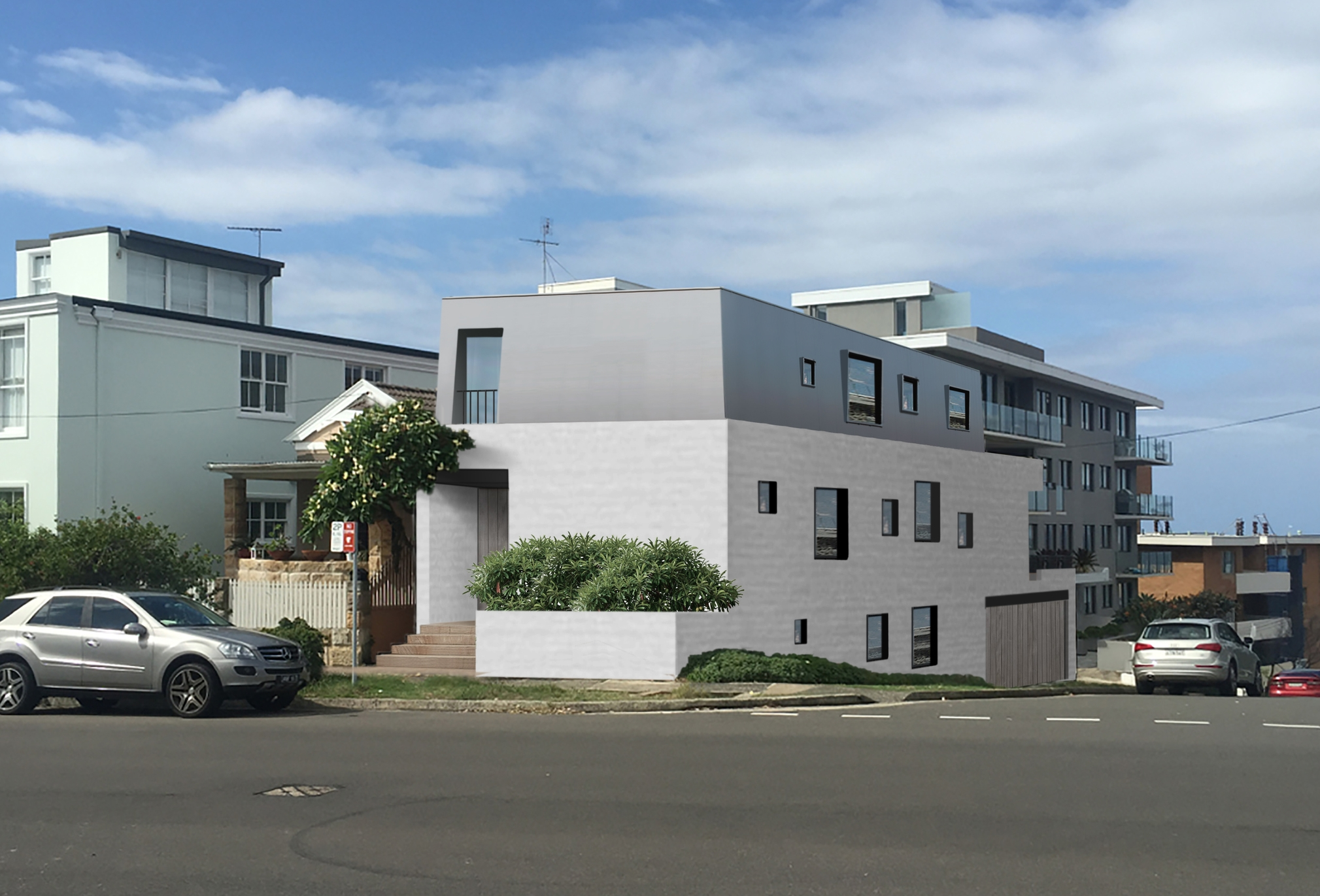 Bondi house concept by Case Ornsby