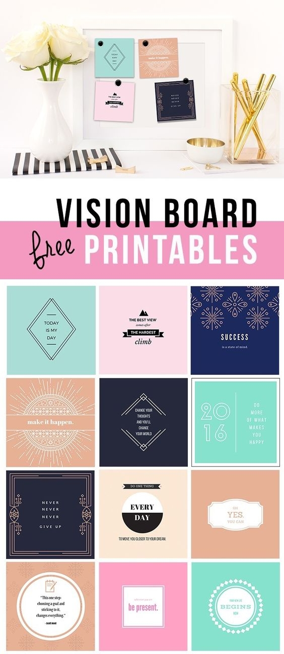 vision board goals lifestyle free printables