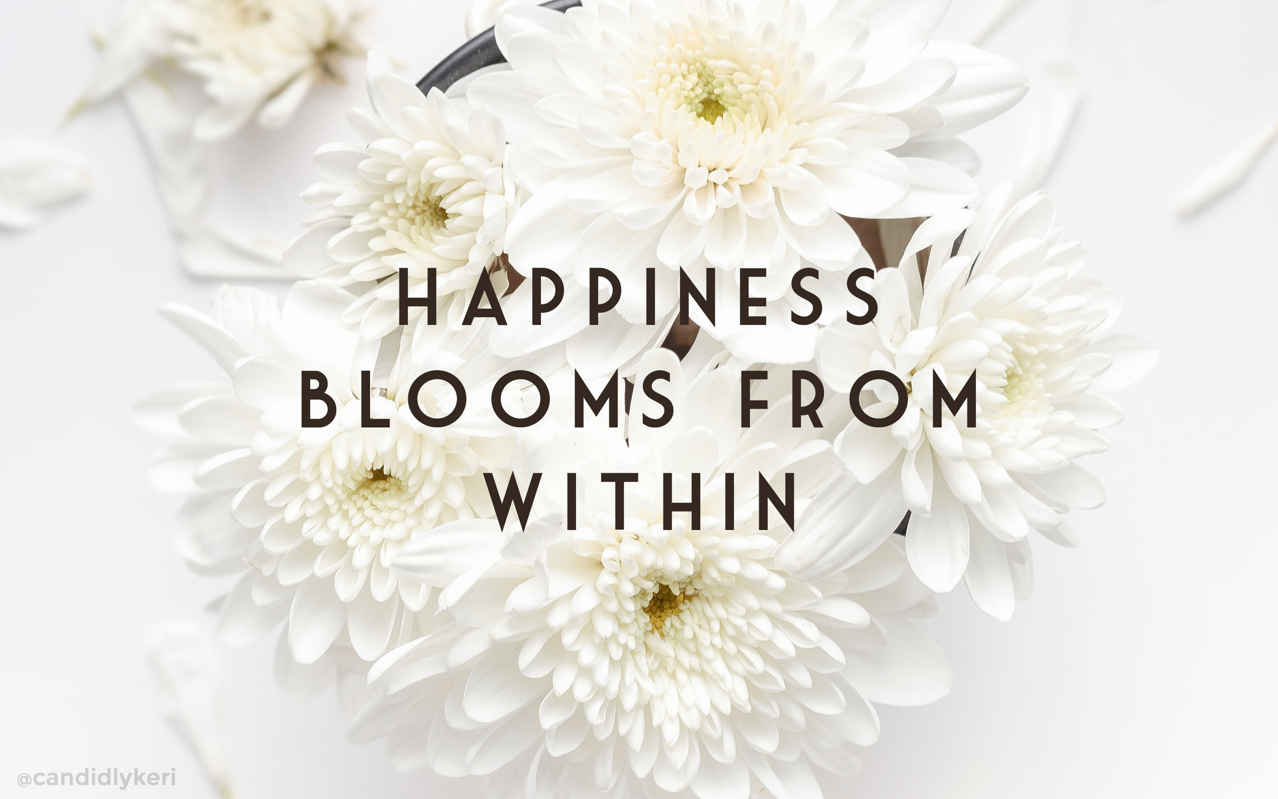 Happiness blooms from within desktop