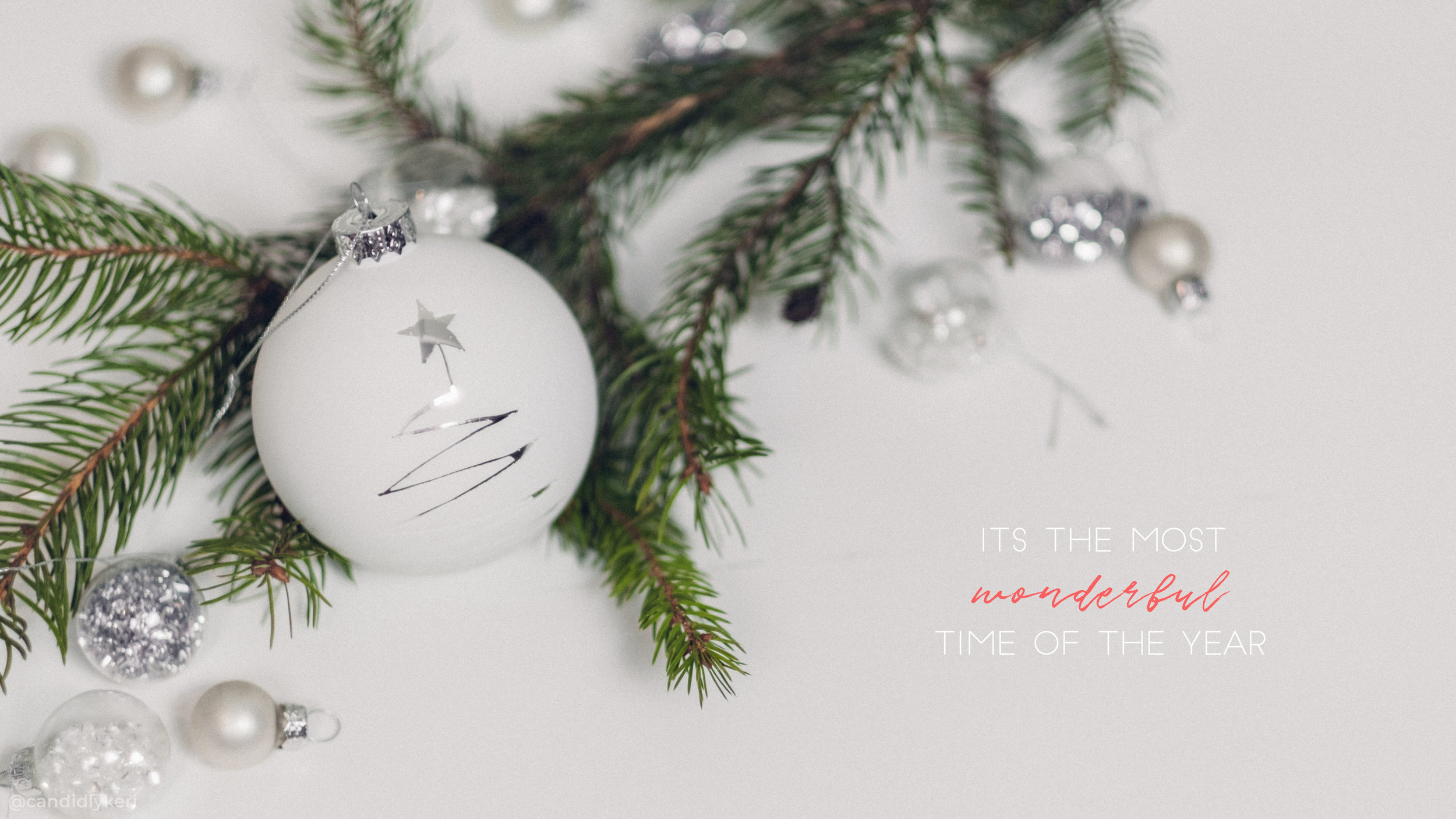 Christmas Holiday Wallpaper Ornament Wonderful Time of the Year