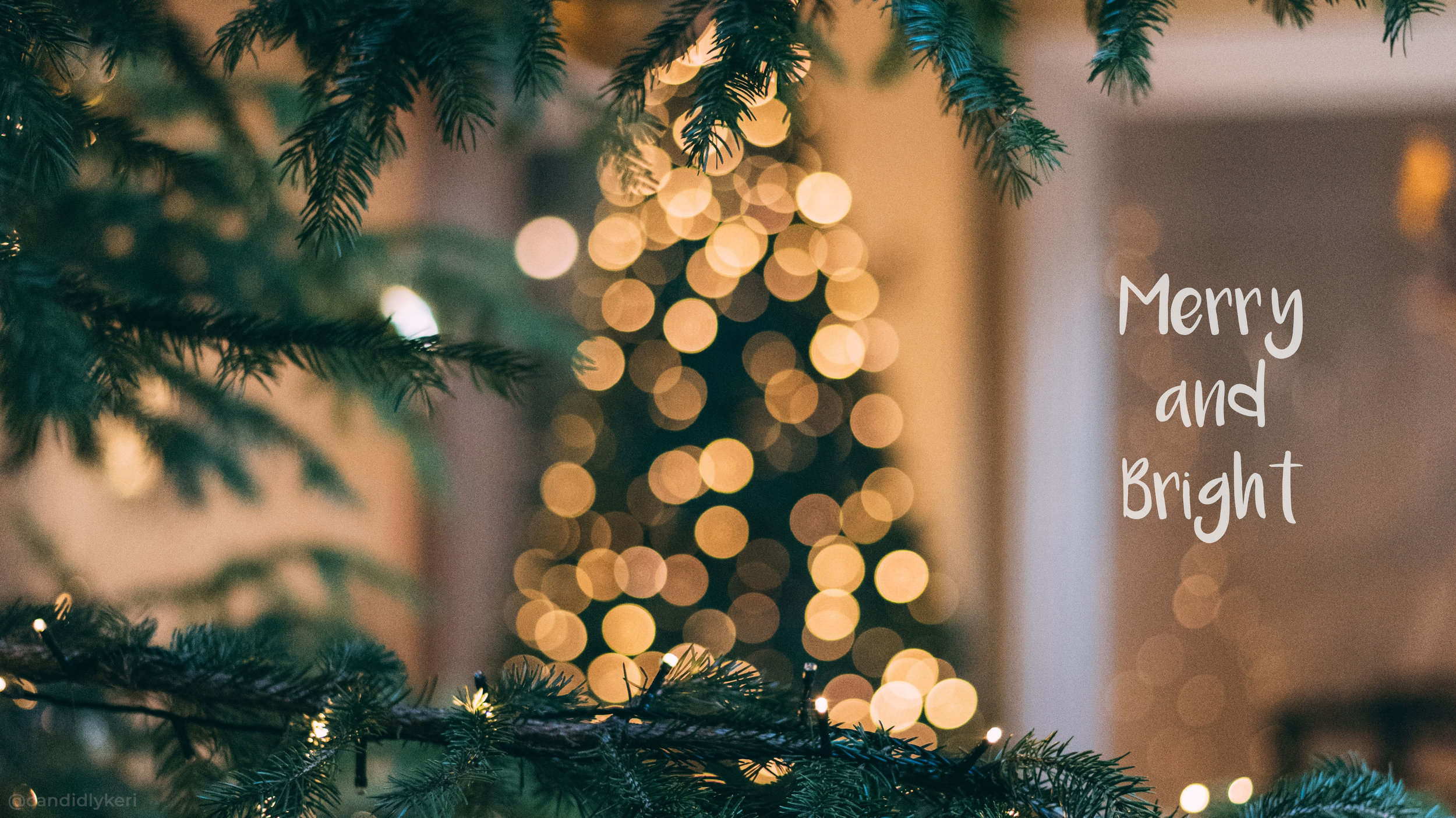 Christmas Holiday Wallpaper Merry And Bright