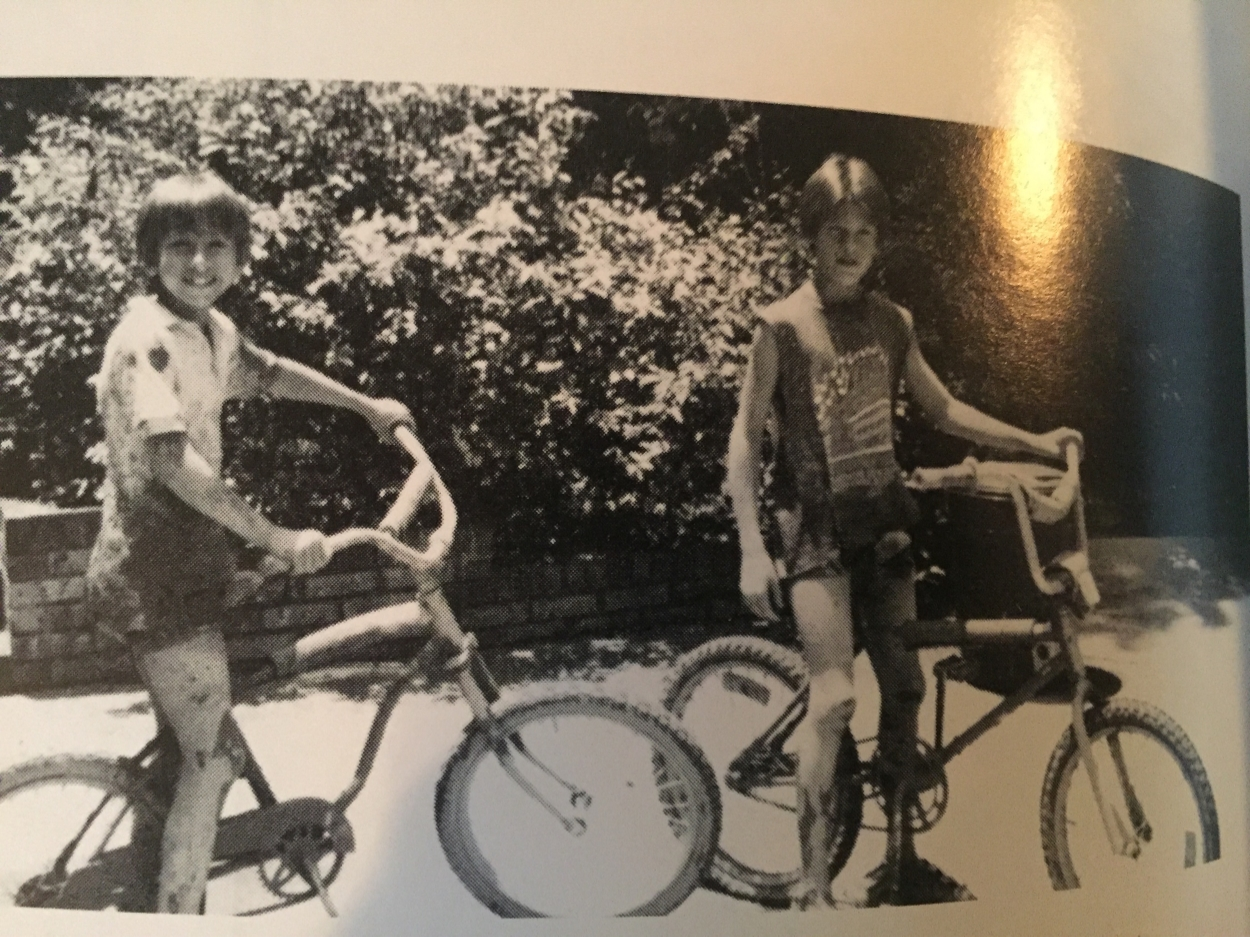 In this rare, archival photo you will notice 1) Beet Juice (left) rocking a single speed all those years ago and 2) Brian rocking early 35080 style via butt cut and sleeveless T.
