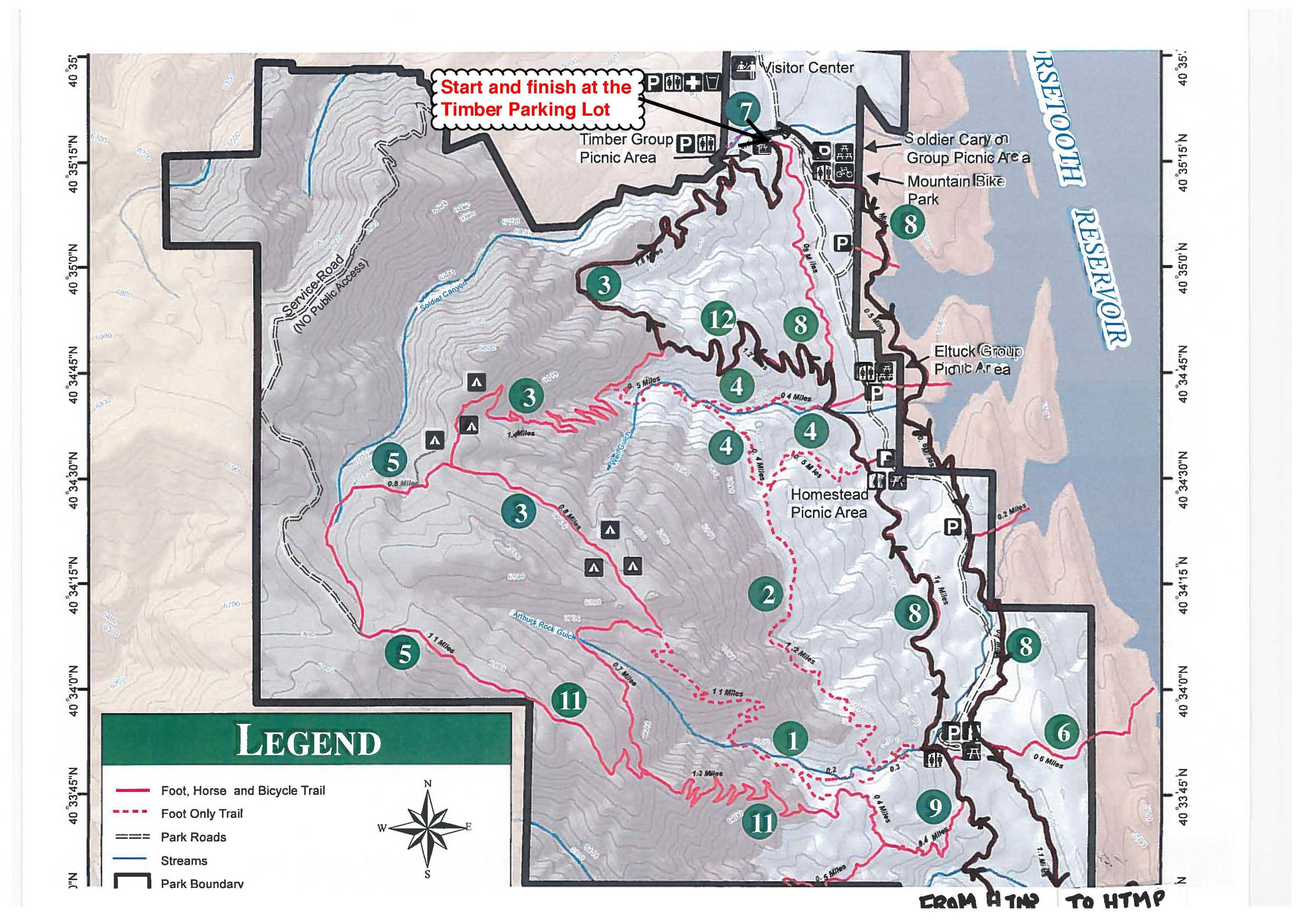 Copy of Map 1 - Lory State Park (north bit)