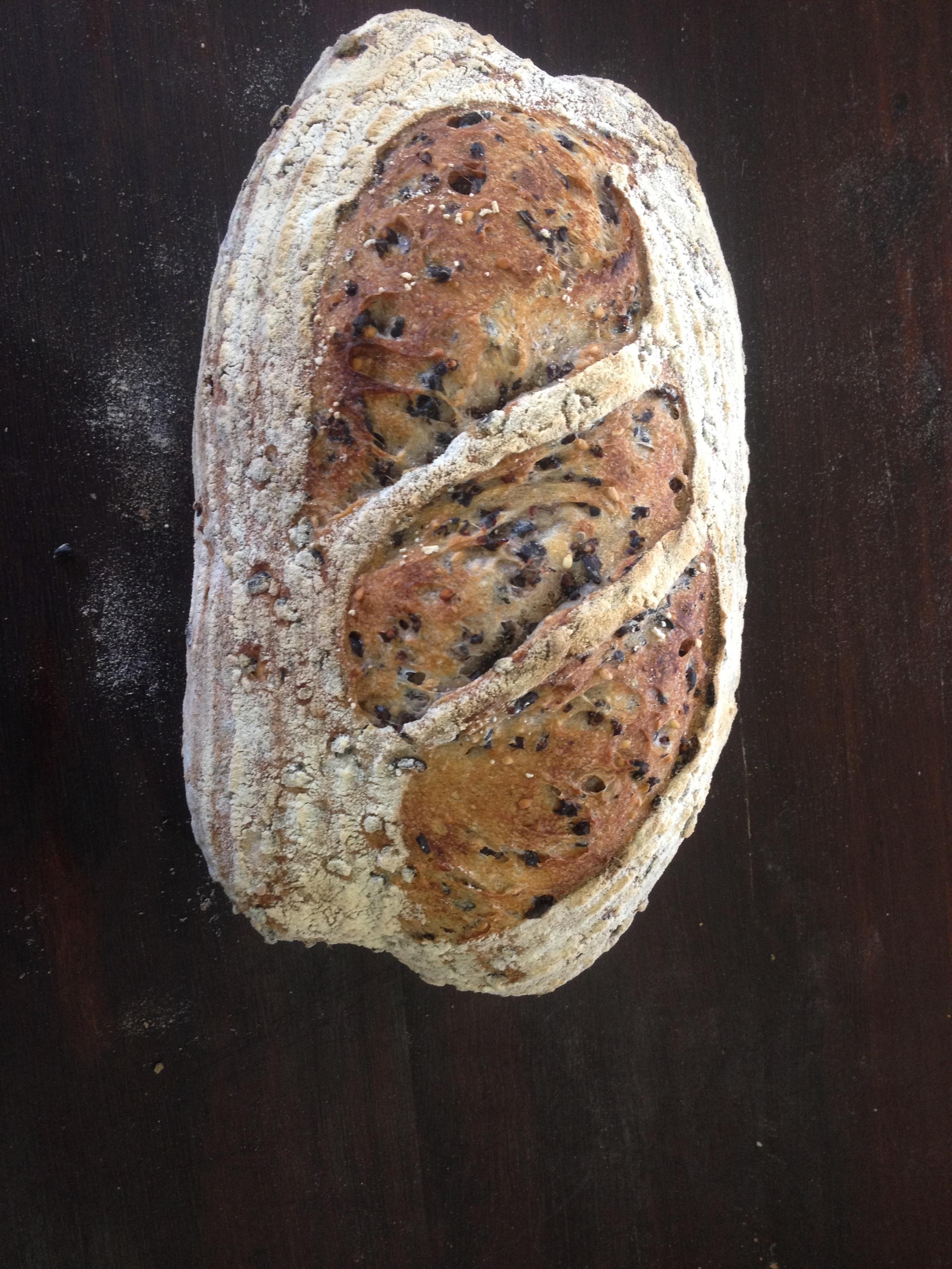 Organic Black Rice & Unhulled Sesame Seed Sourdough