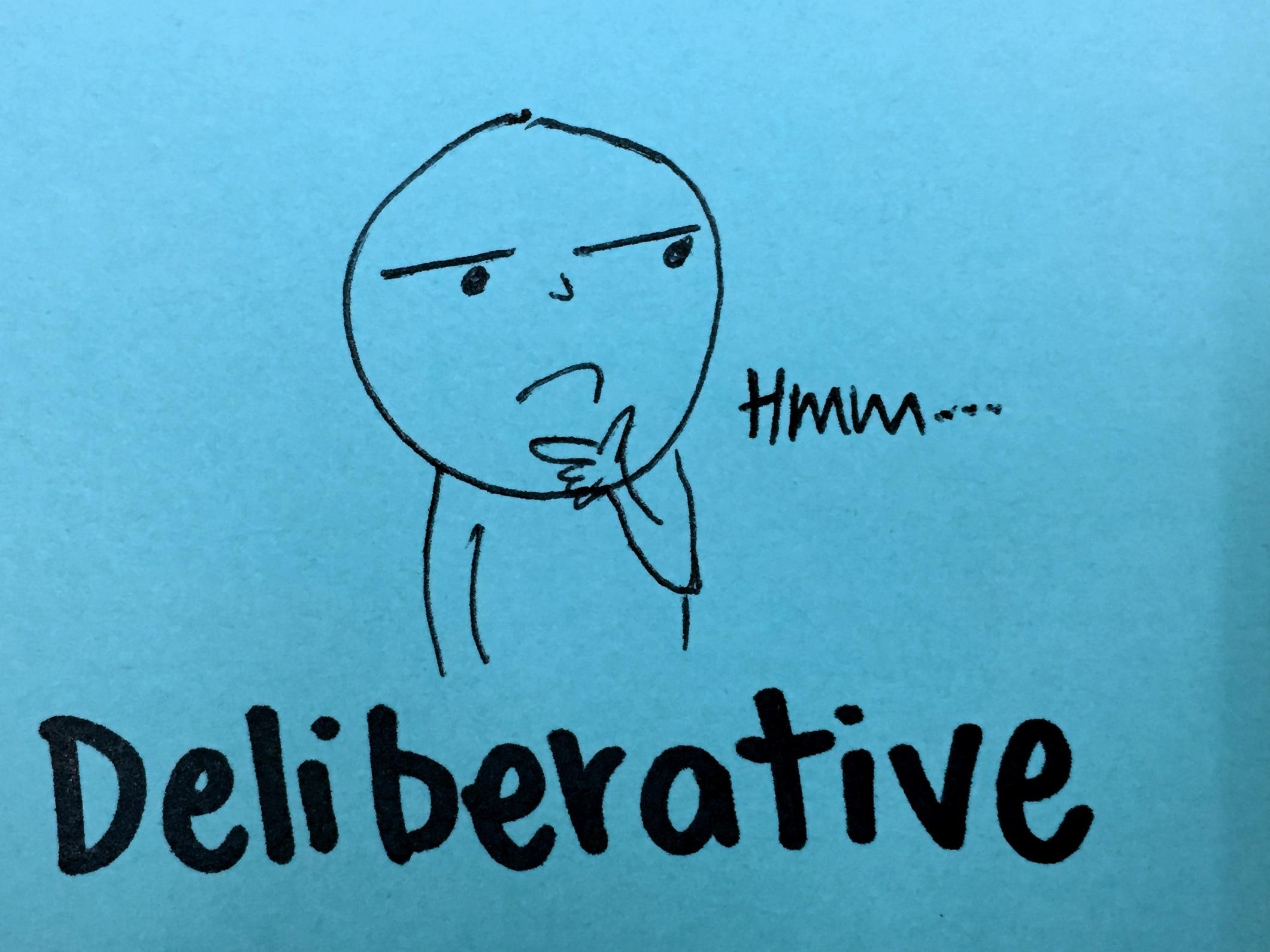 Deliberative StrengthsFinder Singapore Thinking Man Hmm