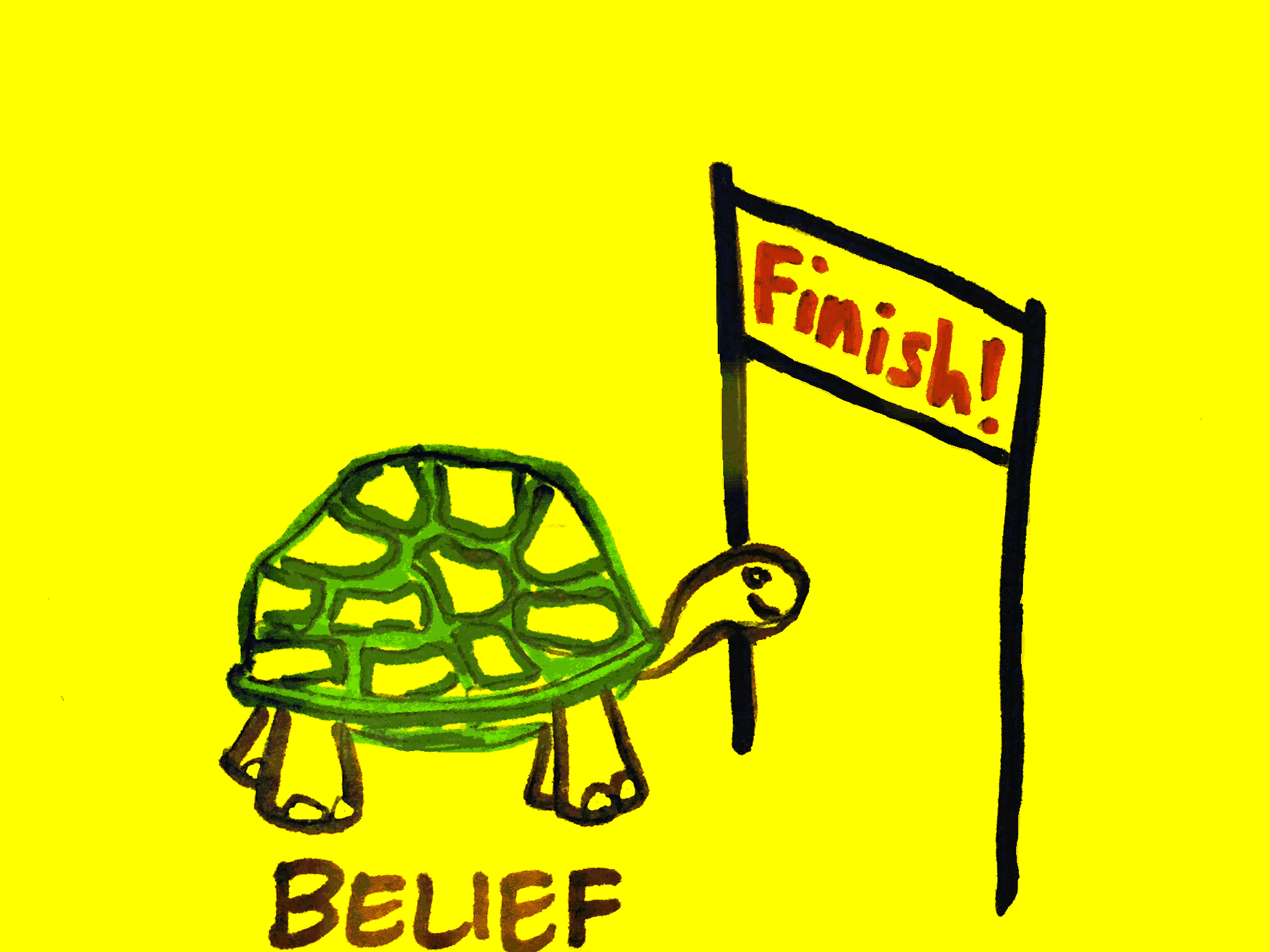 Belief StrengthsFinder Singapore Tortoise Persevere Finishing Line