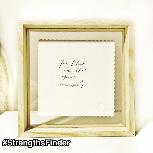 #theletterjsupply #Singapore unknowingly wrote a #StrengthsFinder quote to me that is super apt
