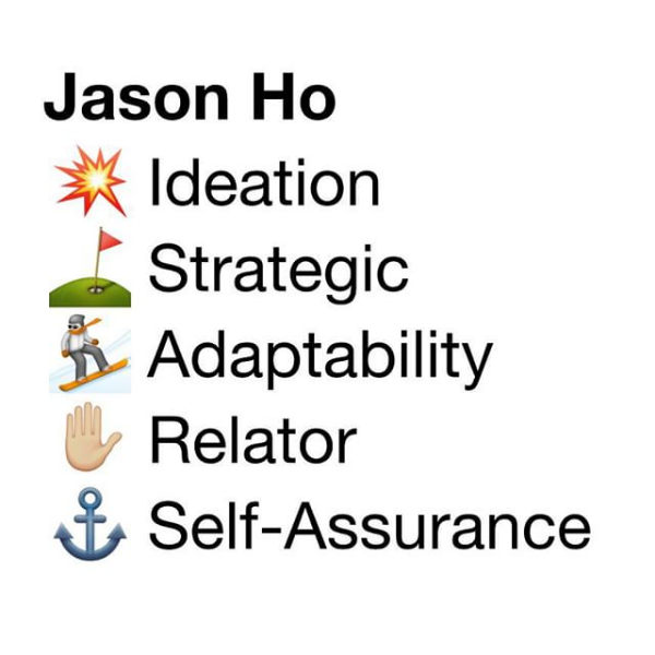 Have fun with your top 5 StrengthsFinder results using Emoji 💪