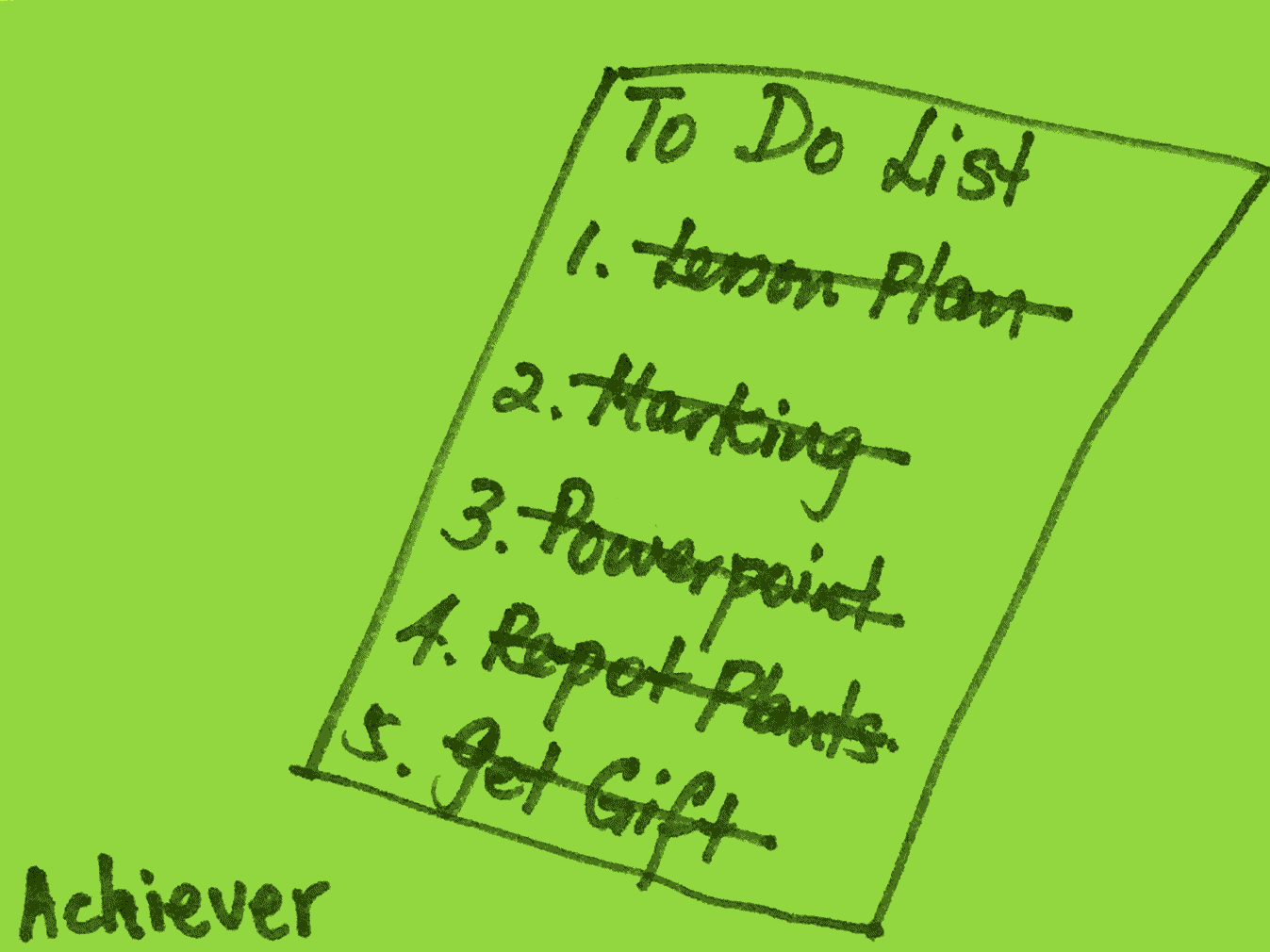 Achiever Strengthsfinder To Do List Done