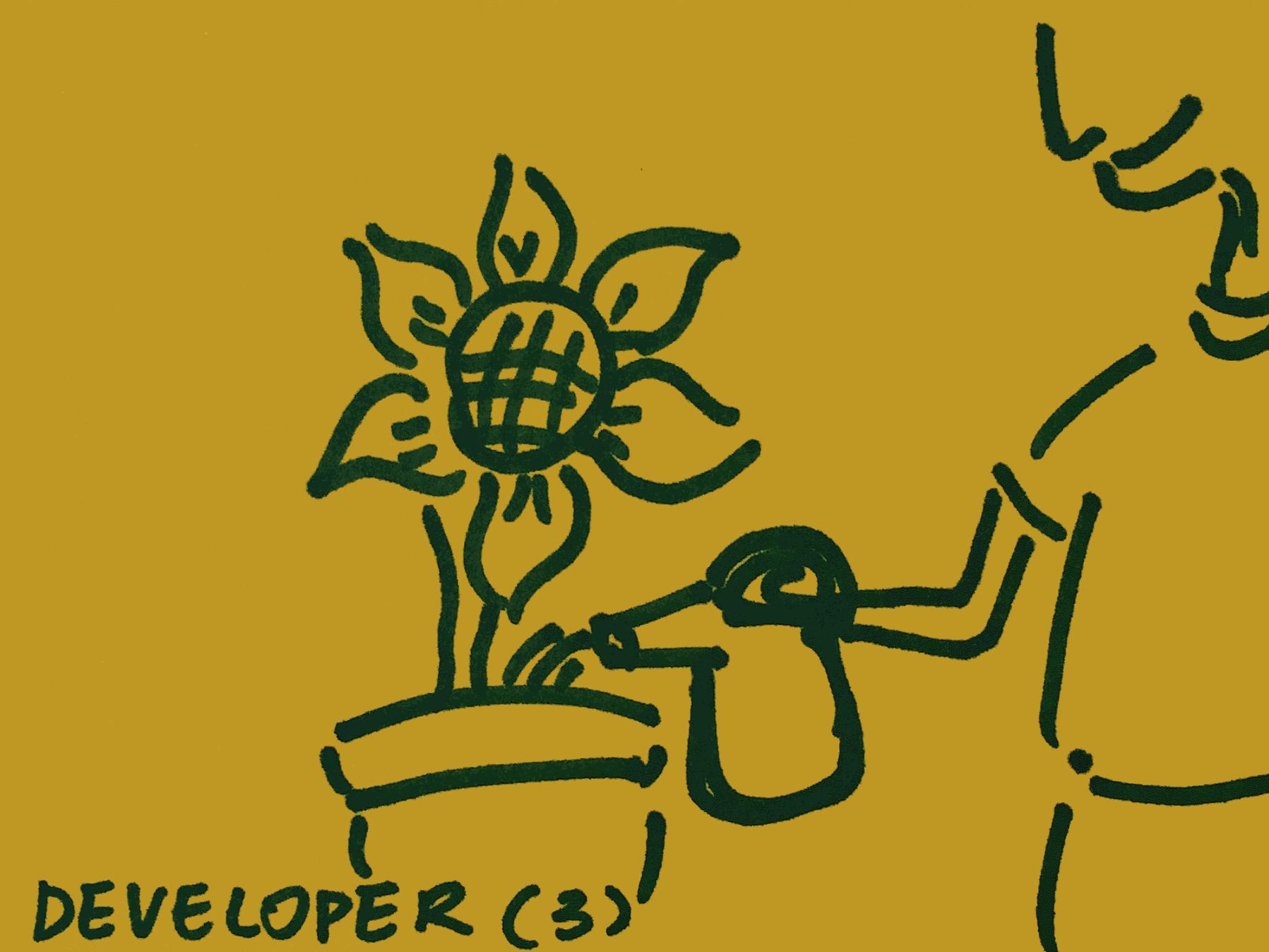 Developer Strengthsfinder Watering Flower
