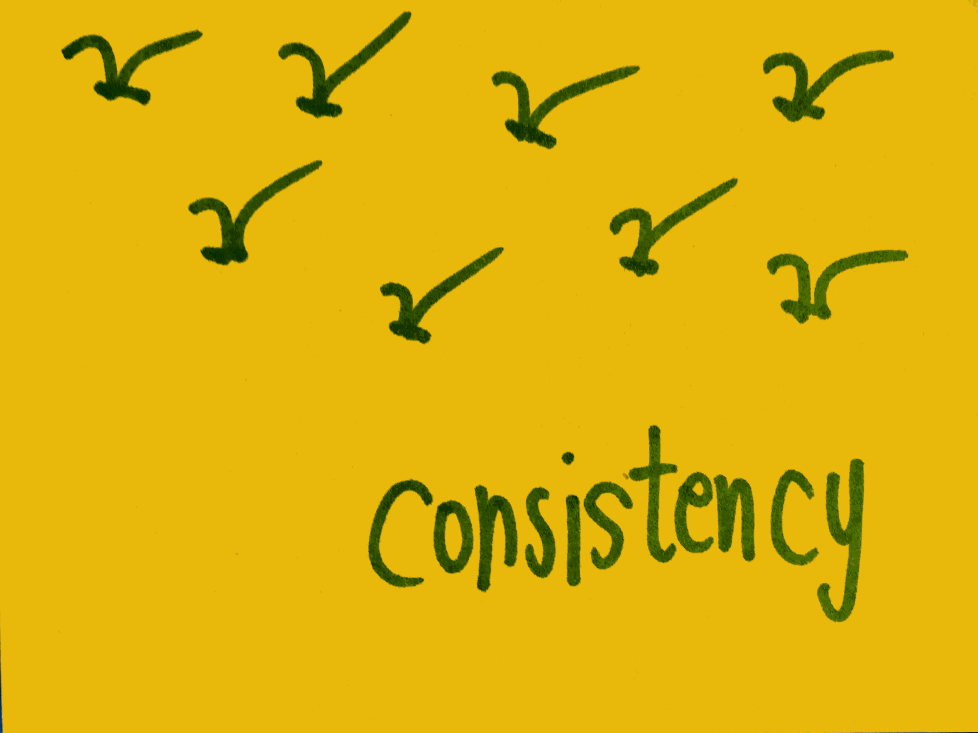 Consistency Strengthsfinder Synchronised Bird Flying