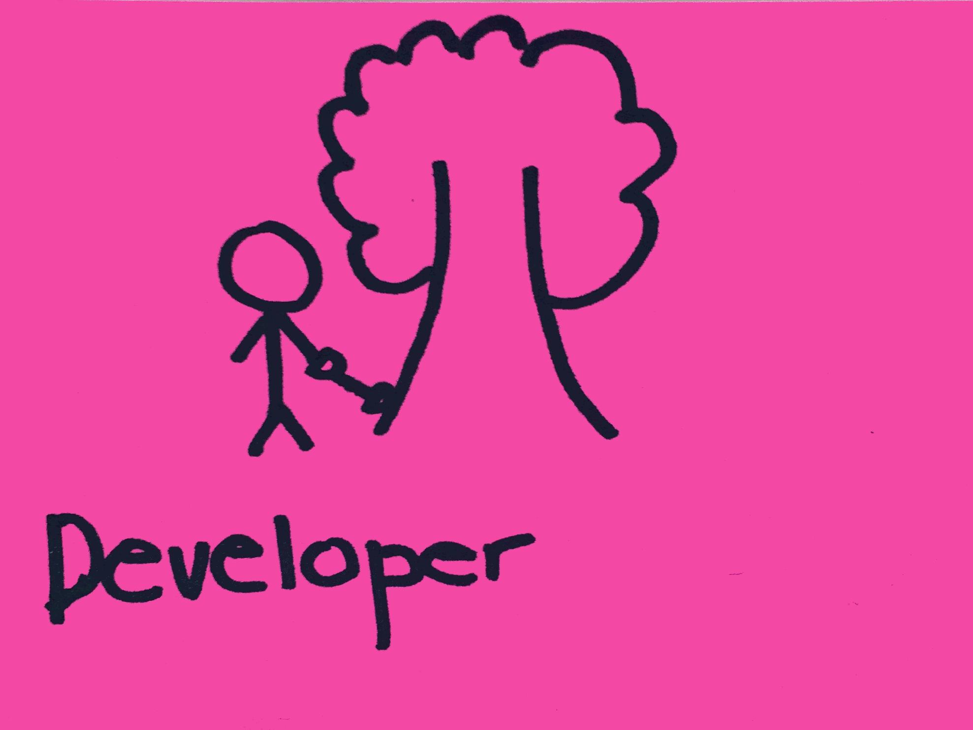 Developer Strengthsfinder garding a tree