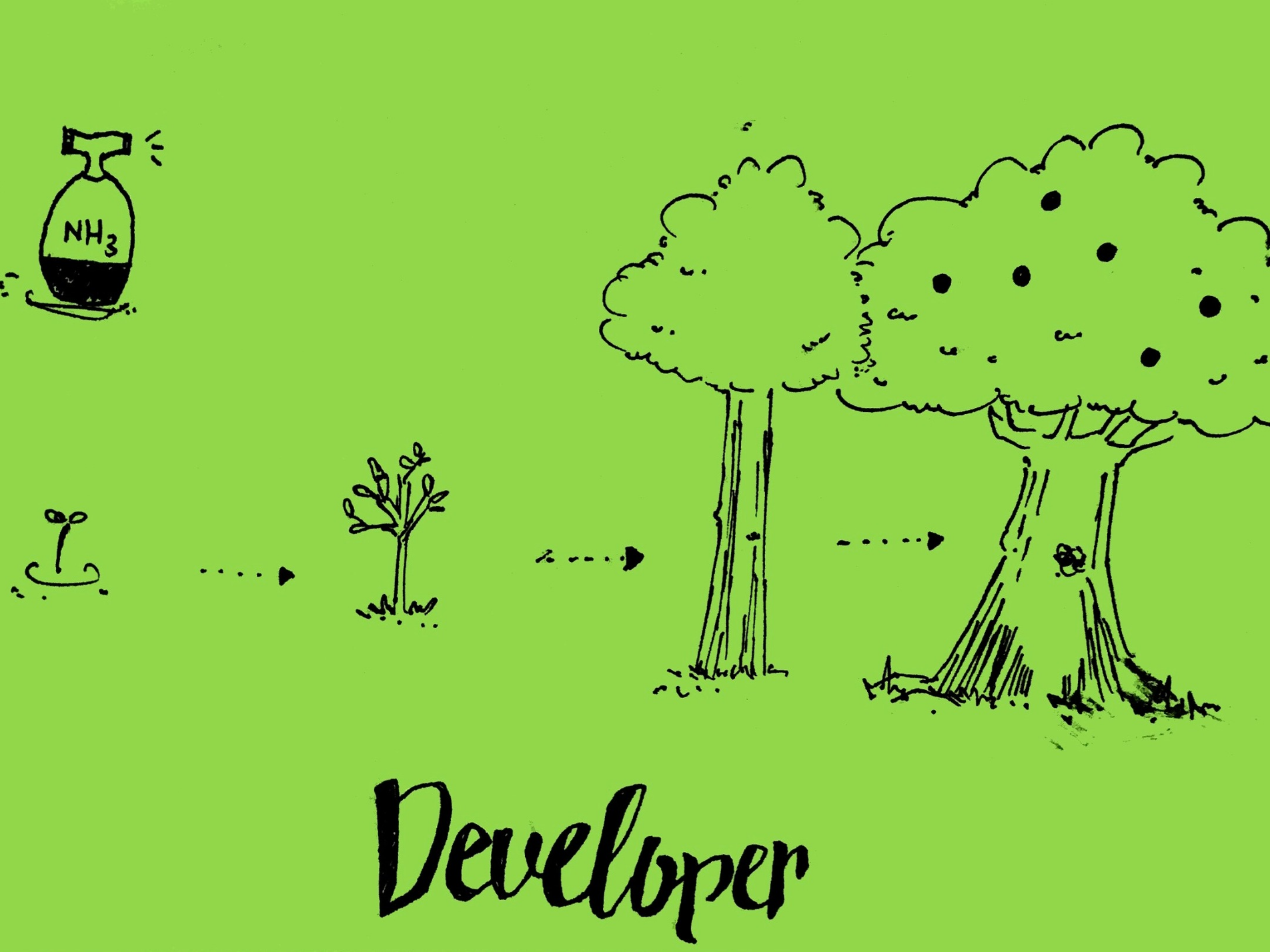 Developer Strengthsfinder Watering Trees with NH3
