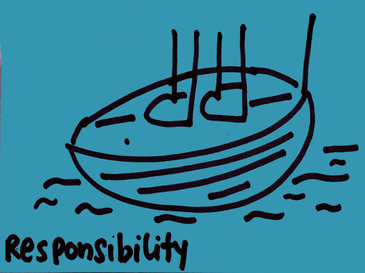 Strengthsfinder Responsibility both feet in boat