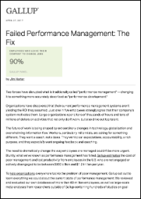 Failed Performance Management: The Fix (Gallup, Inc.)