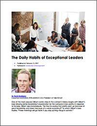 The Daily Habits of Exceptional Leaders (Dr. Travis Bradberry)