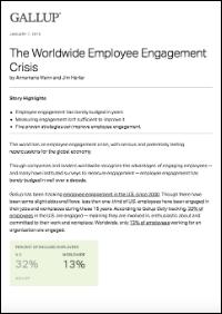 The Worldwide Employee Engagement Crisis (Gallup, Inc.)