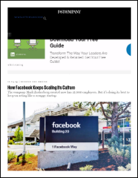 How Facebook Keep Scaling Its Culture (Harry McCracken)