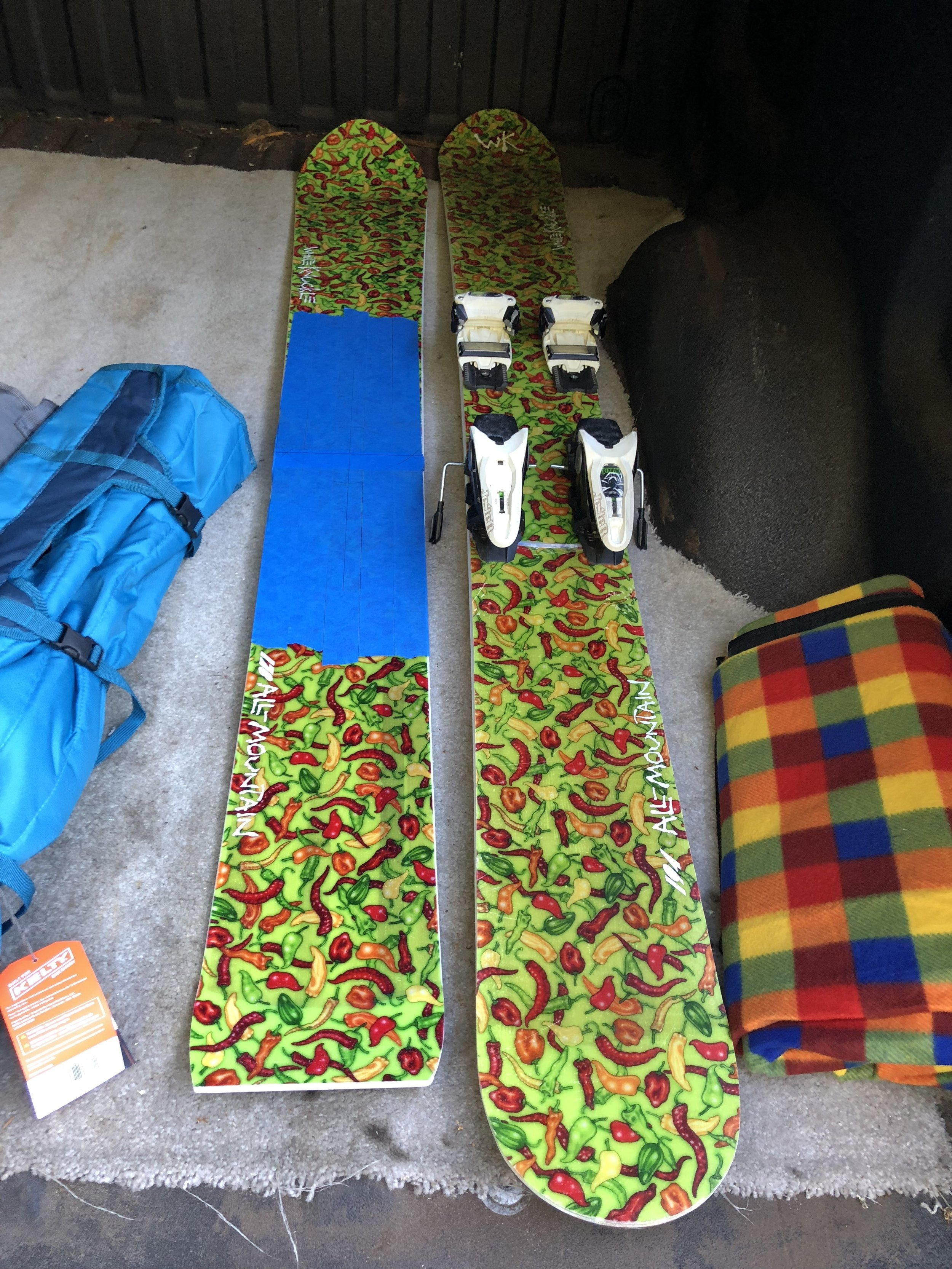 Gonna retire the first WK All mountain we pressed, PR1- a 194 All-Mountain round tail, and mount those bindings on the 173!