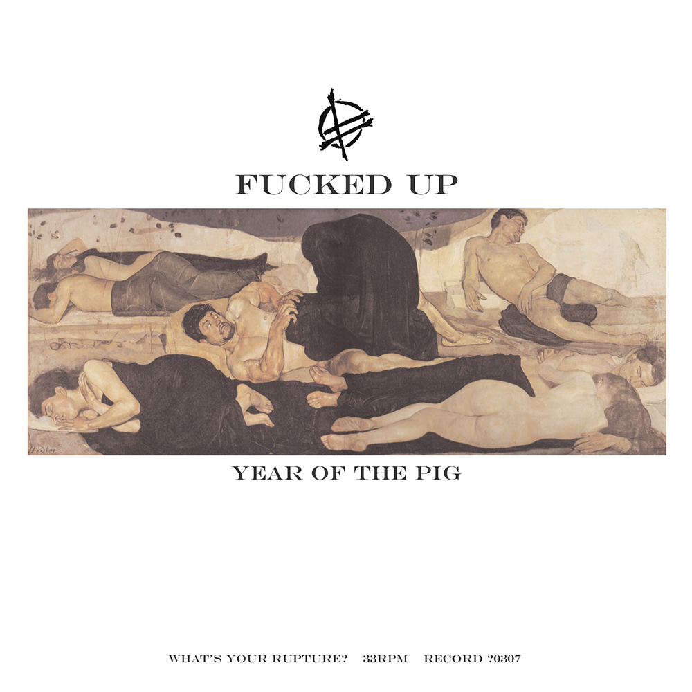 """12"""" VINYL - OUT OF PRINT-  BUY ON DISCOGS    Year of the Pig @ Fucked Up Discography   Recorded and mixed by Jon Drew 05/10 and 05/11 2007 at Signal to Noise Studios, Toronto. Produced by Fucked Up and Jon Drew. Mastered for vinyl by Jon Drew at Toast Earts Studio, Toronto. Design and layout by 10,000 Marbles, The Slasher and Gulag. Original cover artwork by Ferdinand Hodler. Security by Octavio St. Laurent. Experienced in the tradition of Wilsim Publogy. All inspiration from David Eliade. Backlash by The Slasher and Tington. Written and performed by Fucked Up. Lyrics by 10,000 Marbles. Additional lyrics by Pink Eyes.  Additional Players: Lead Vocals by  Jennifer Castle  Organ by  Max McCabe Lokos  Percussion by  Michael Armstrong   Released by What's Your Rupture? Records WYR?0307  http://whatsyourrupture.com  Licensed to Matador Records OLE-828  http://matadorrecords.com"""