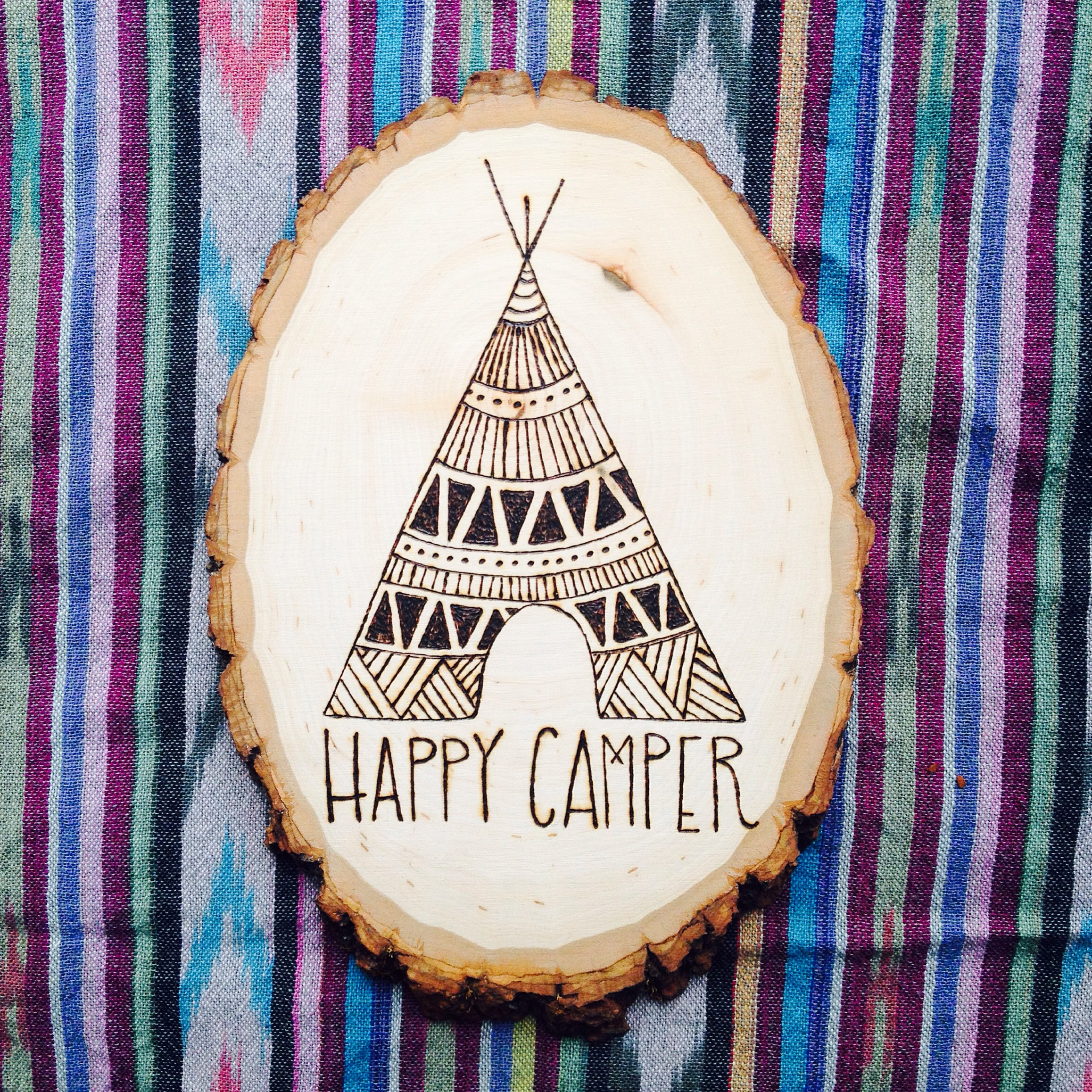Wood Burned Sign