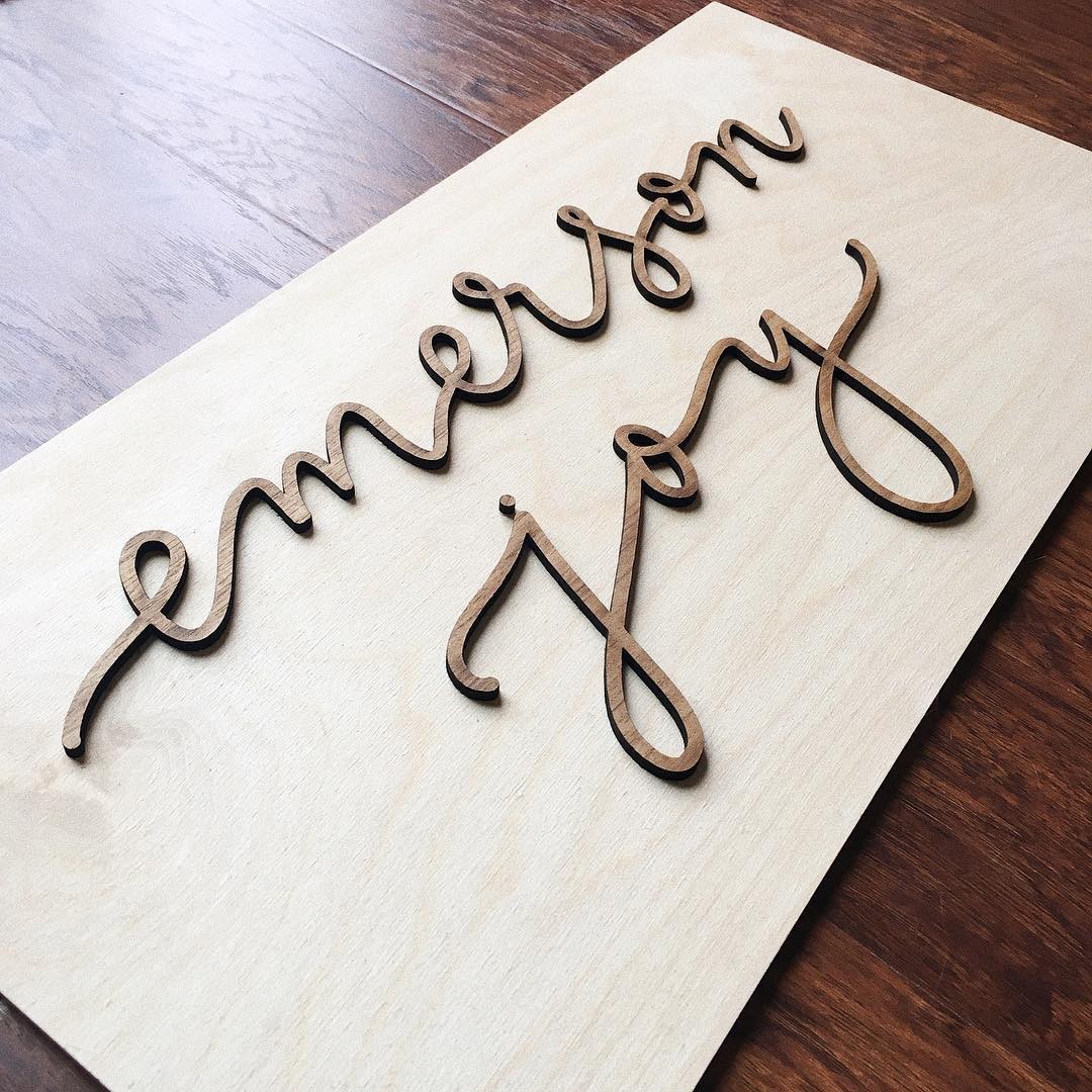 Custom Laser Cut Sign