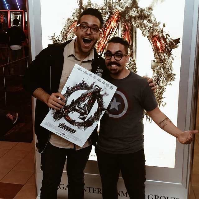 GUESS WHO'S LIVE BLOGGING THE AVENGERS 2!!!! #avengersageofultron #marvel #s #icfpc @rickyshotfirst @sergiointheam