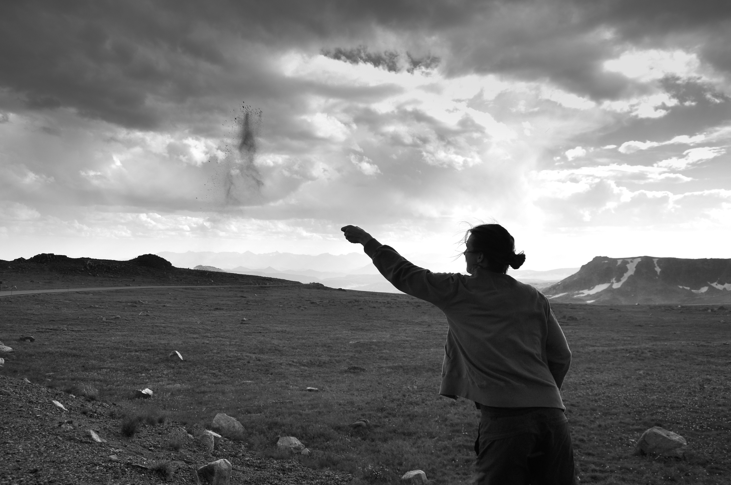 Scattering Dad's ashes at Beartooth Pass, Montana (Photo: Michael Freeman)