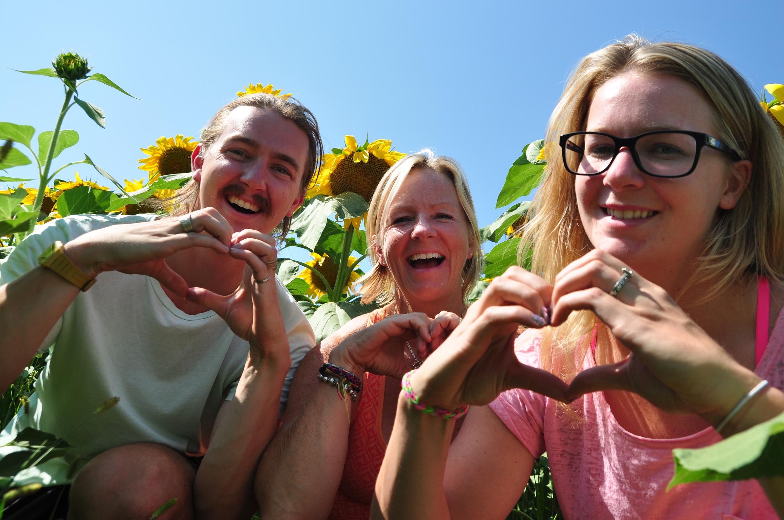 Amongst the sunflowers in North Dakota. (Photo: Michael Freeman)