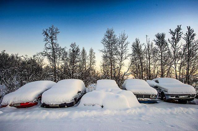 Dude, where's my car? Where's you car dude? #lapland #seesweden #icehotelsweden #nikkaloukta# @seesweden @visitsweden @visitsweden_us #lapland# #cars