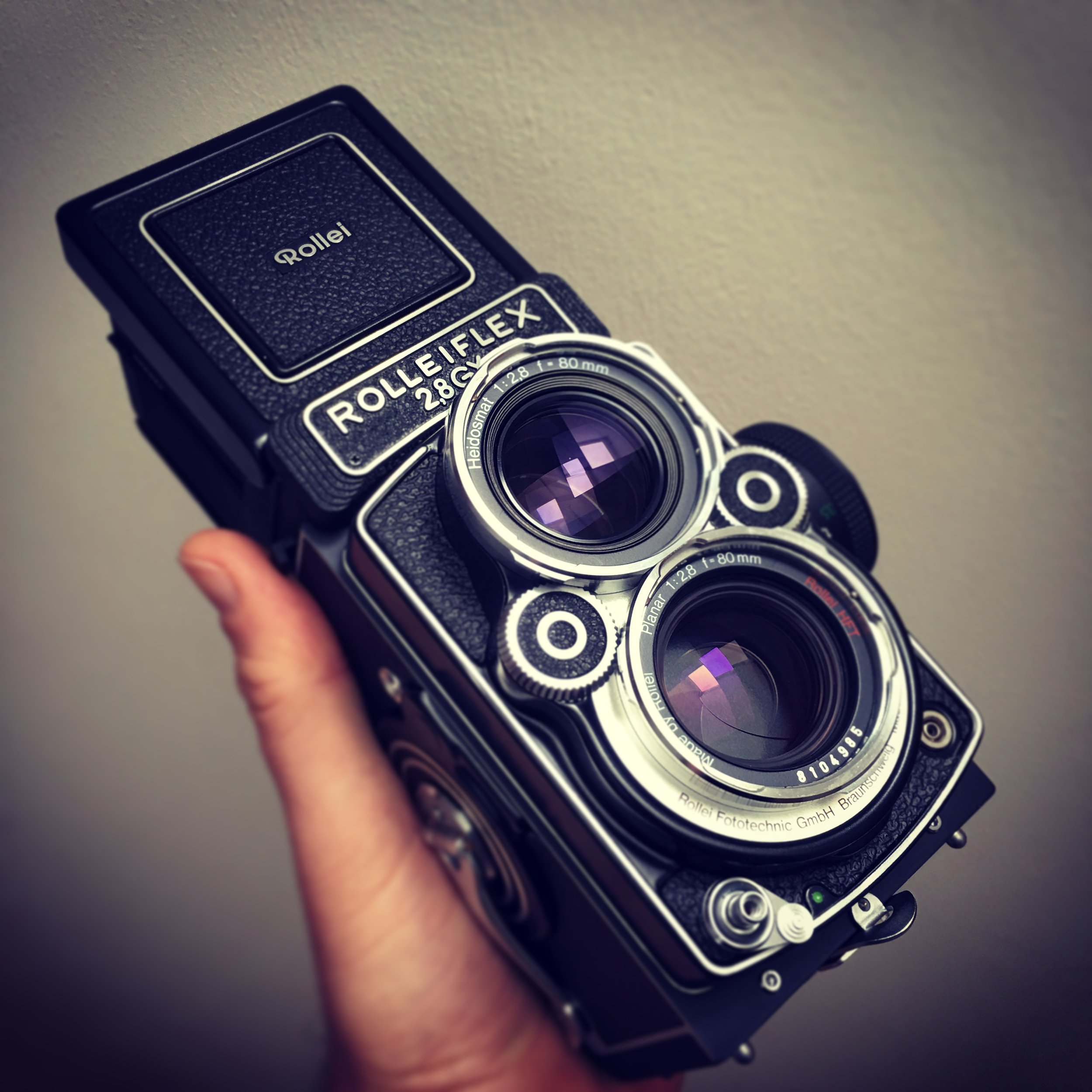 A Rolleiflex medium format camera. Not particularly cheap, if I'm honest, but very simple and lovely to use.