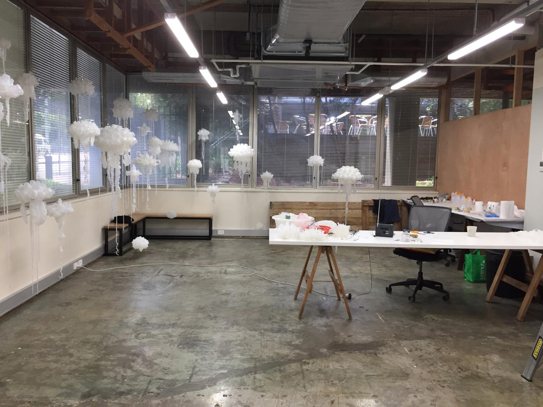 Penelope Davis, work in progress at Carlton Connect Lab-14, City of Melbourne Creative Spaces, Studio Residency