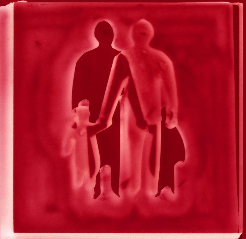 Crossing  2017,Ilford metallic photographic print, 30x31cm