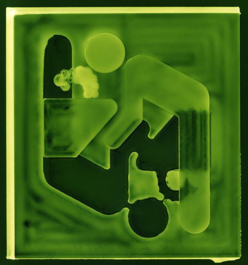 Fountain  2017, Ilford metallic photographic print, 30x28cm
