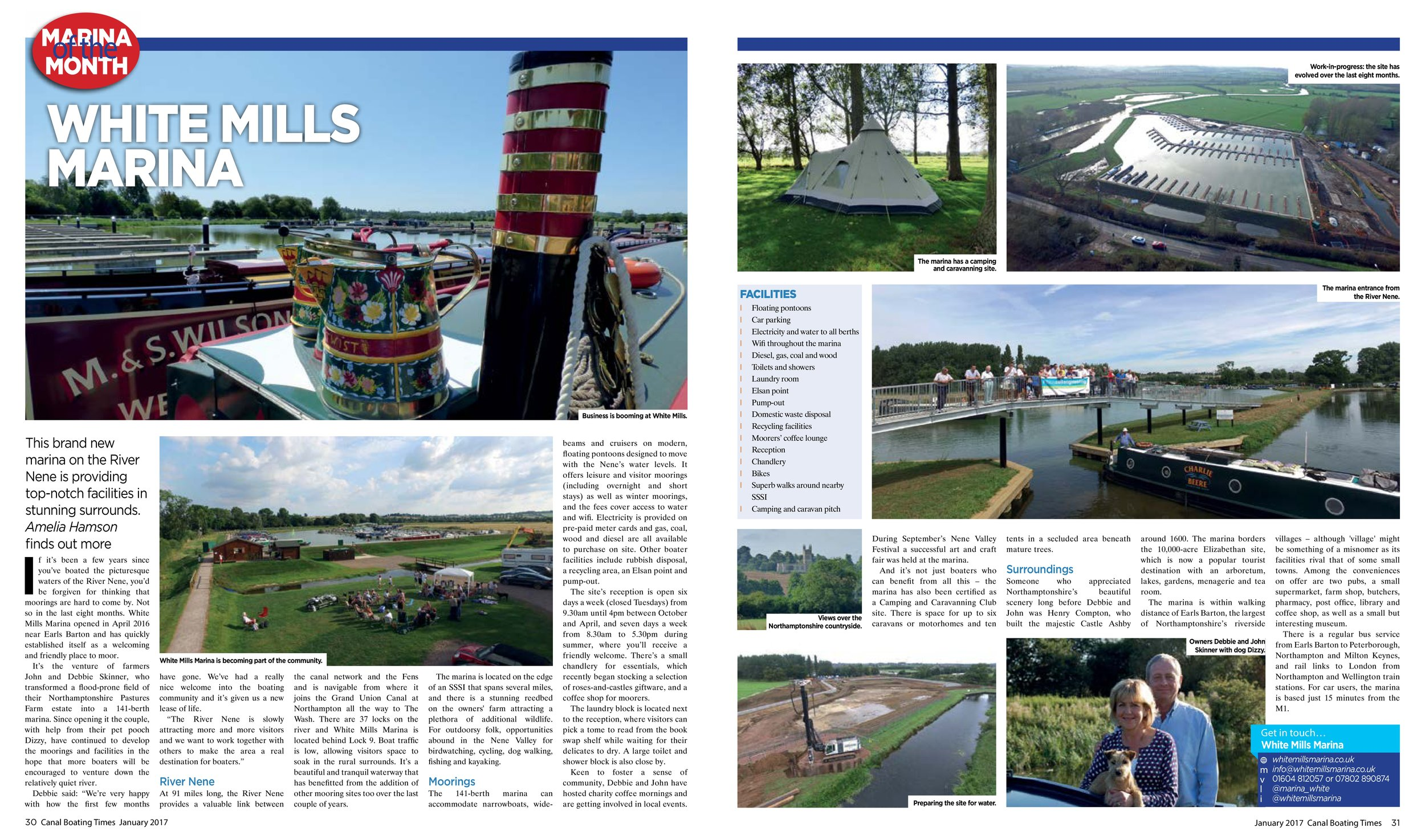 CANAL BOATING TIMES JANUARY 2017