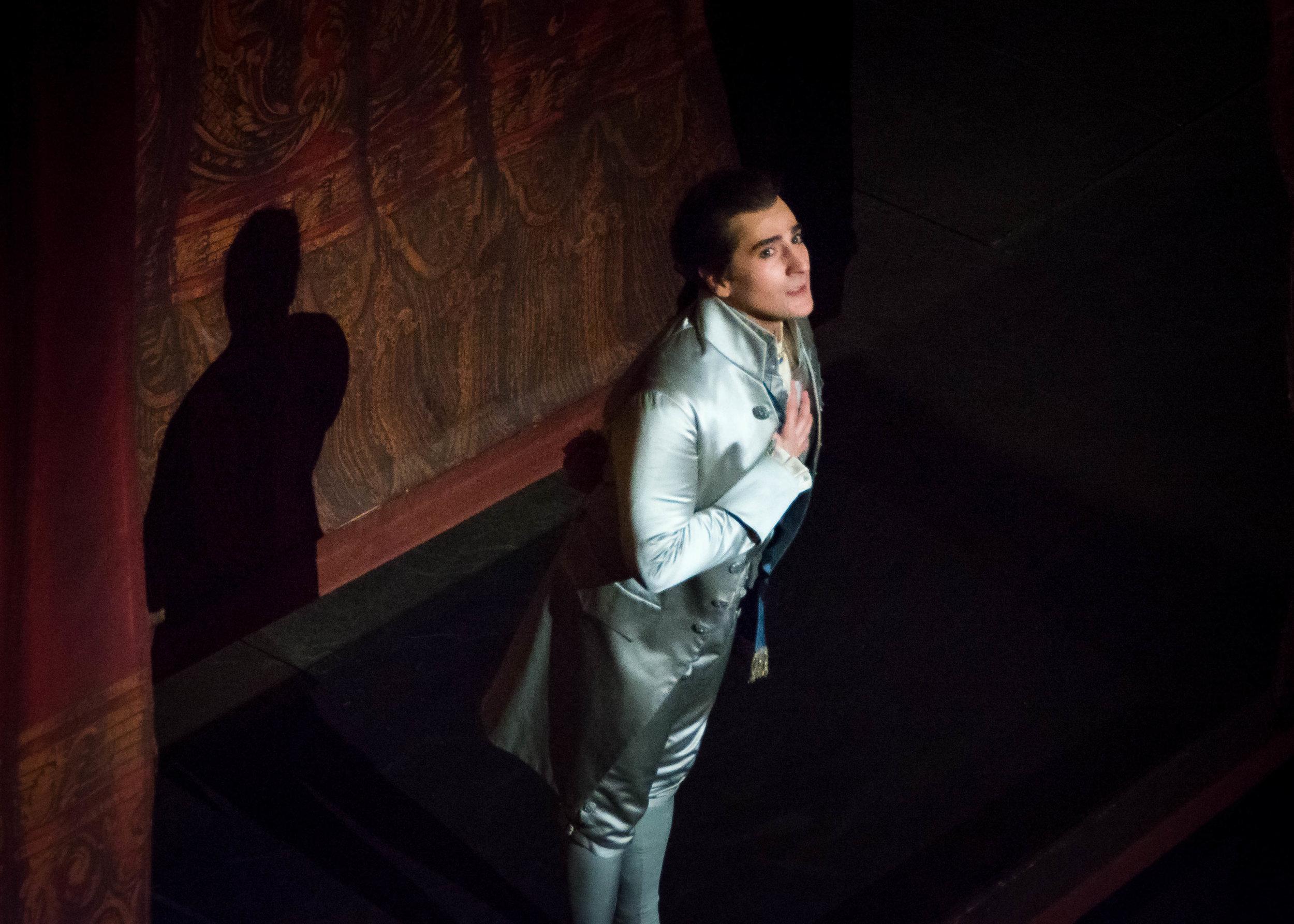 Leonardo Capalbo as Gustavo in  Un ballo in maschera  at the Royal Swedish Opera