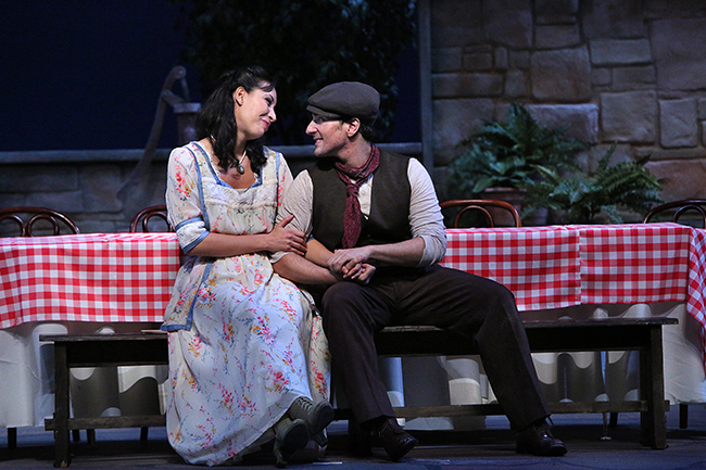 Leonardo Capalbo and Nicole Cabell in  L'elisir d'amore