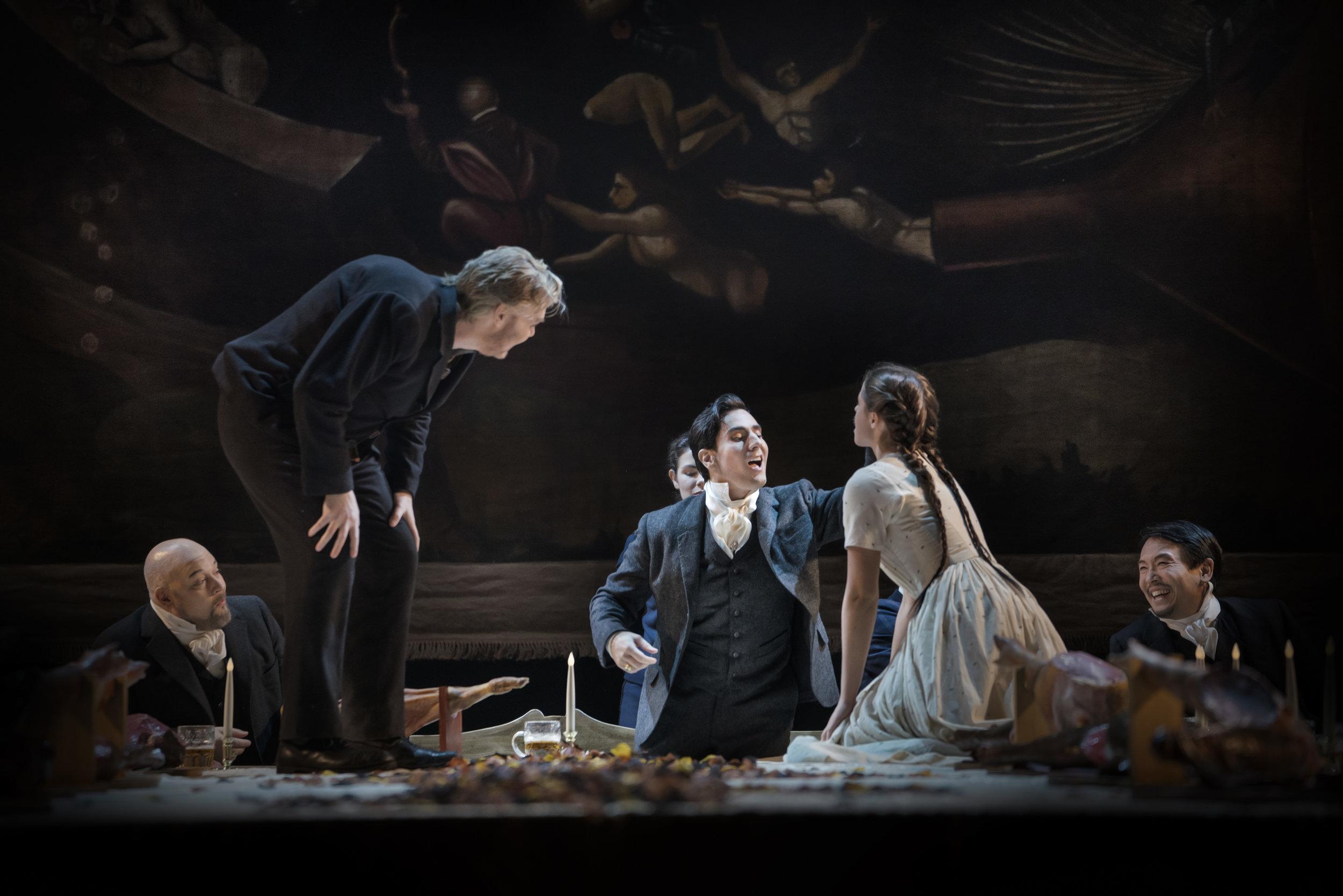 Leonardo Capalbo as the Duke of Mantua at the Royal Swedish Opera