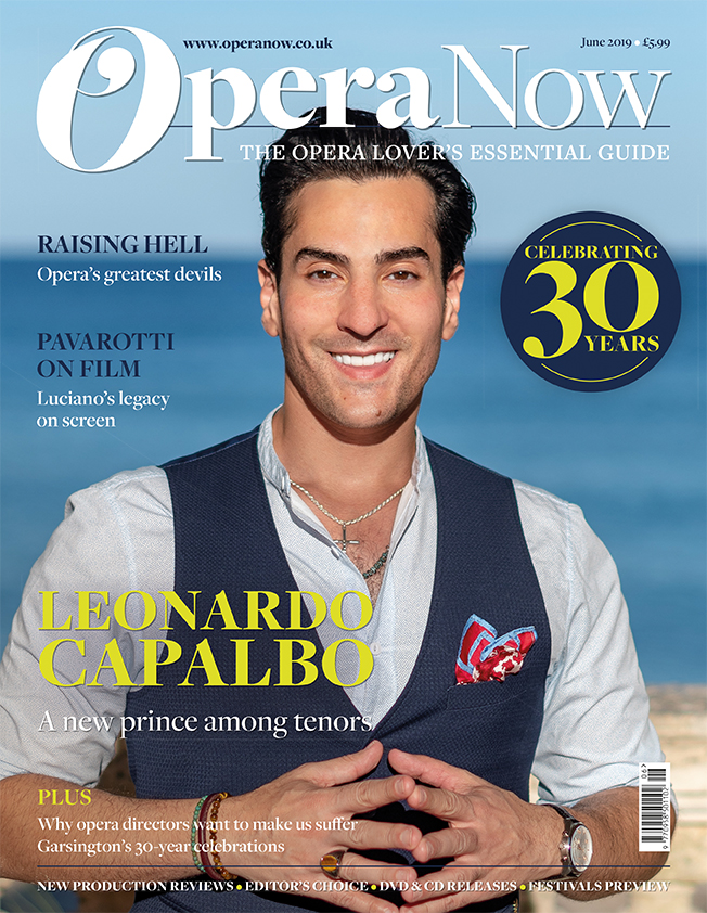 Leonardo Capalbo on the cover of Opera Now