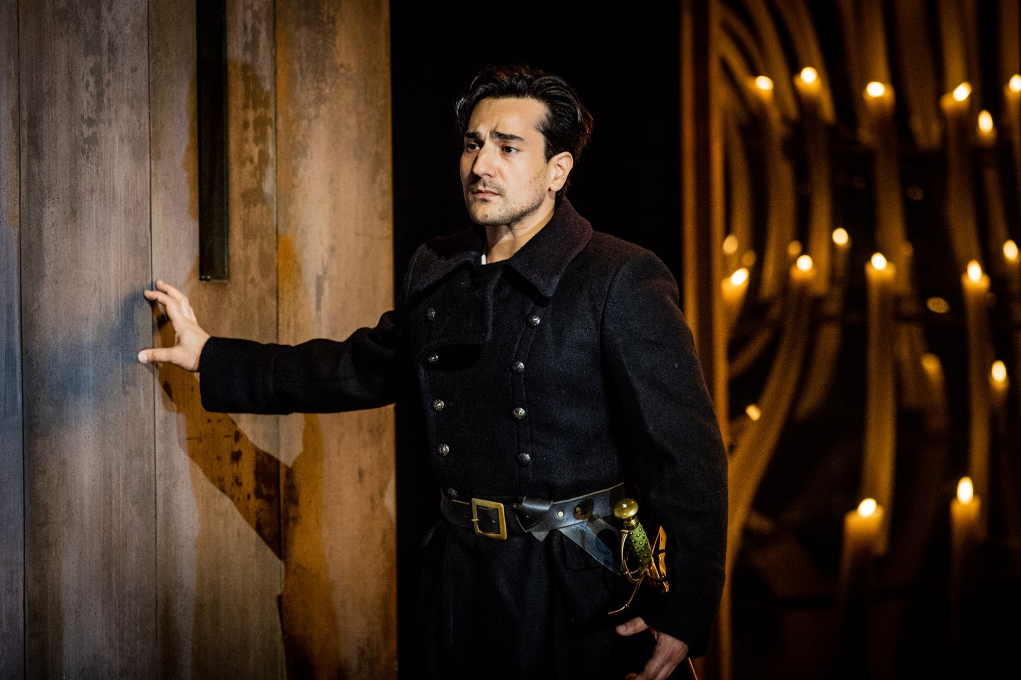 Leonardo Capalbo as Don Carlo at Grange Park Opera. Photo by Robert Workman.