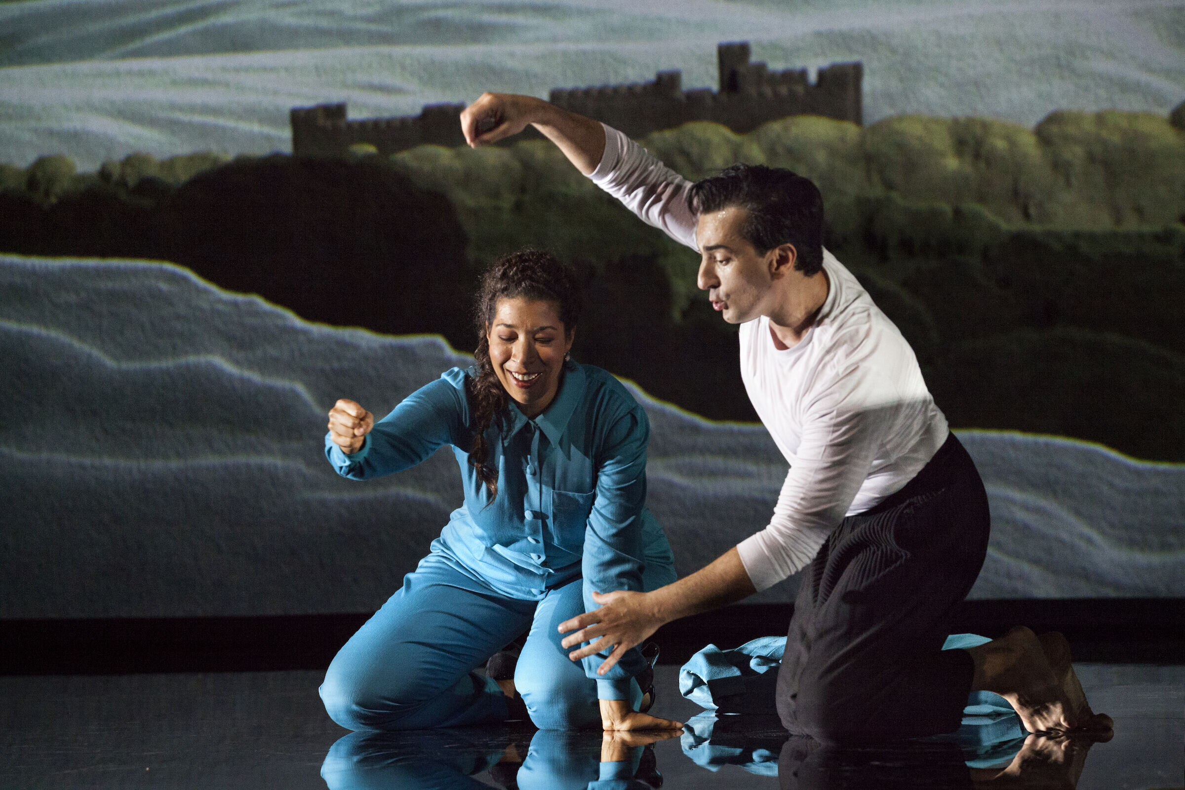 Leonardo Capalbo and Mary Elizabeth Williams in a scene from  Don Carlos . photo by Annemie Augustijns