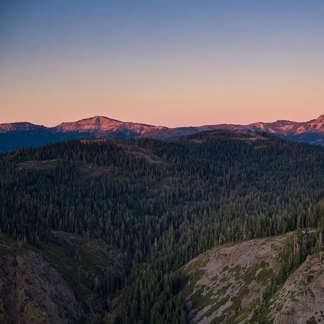 The Sierras a bit west of Lake Tahoe. Van for scale. Shot with the DJI Inspire 2.  Swipe for the full panorama, and see if you can find our campsite. (Hint: it's in the first frame, but the last frame I've zoomed in a bit on it) . . . . #california #mountains #tahoe #sierras #aerial #panorama #inspire2 #fromwhwreidrone #aerialpanorama