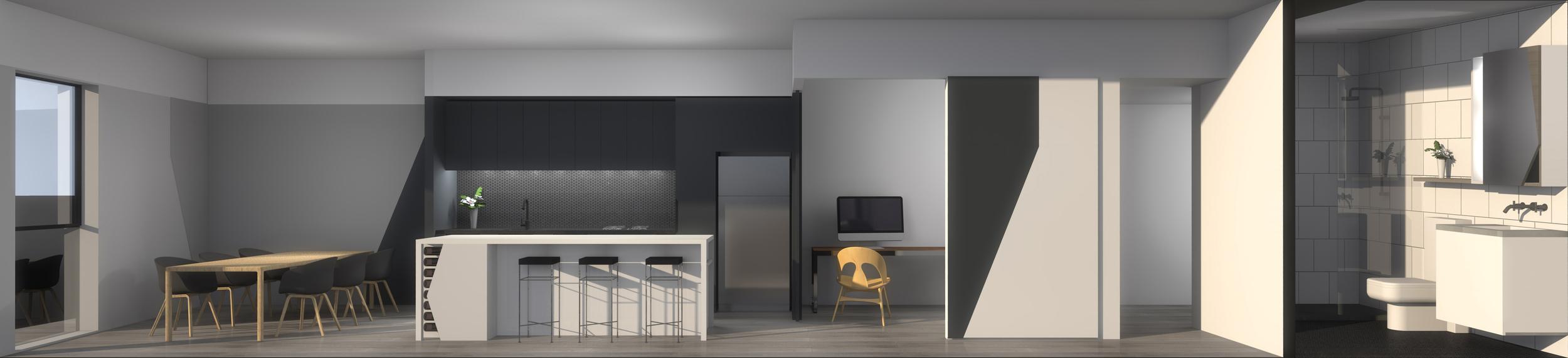 In-house rendering  Design development of internal schemes conveyed through in house renders