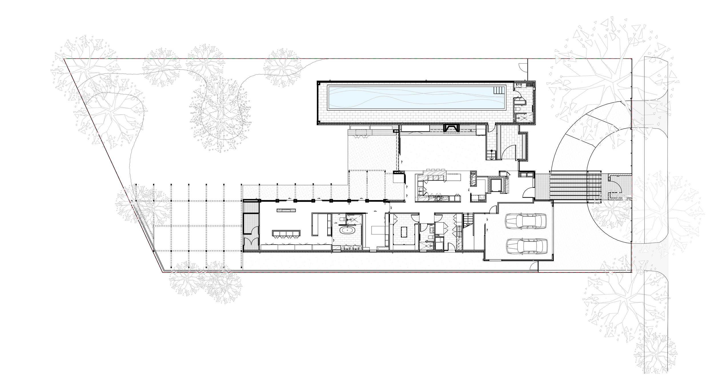 Garden house plan by Chamberlain Archtects