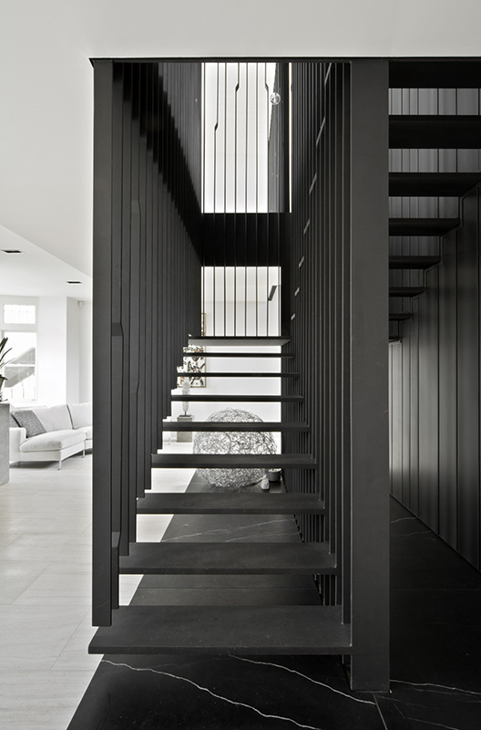 Middle Park stairway by Chamberlain Architects