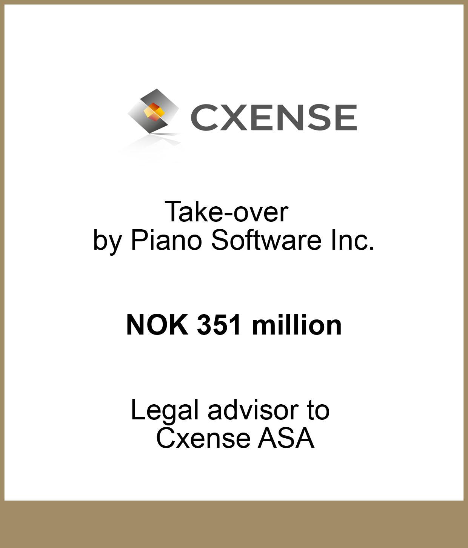 Cxense ASA Take-over by Piano Software Inc.