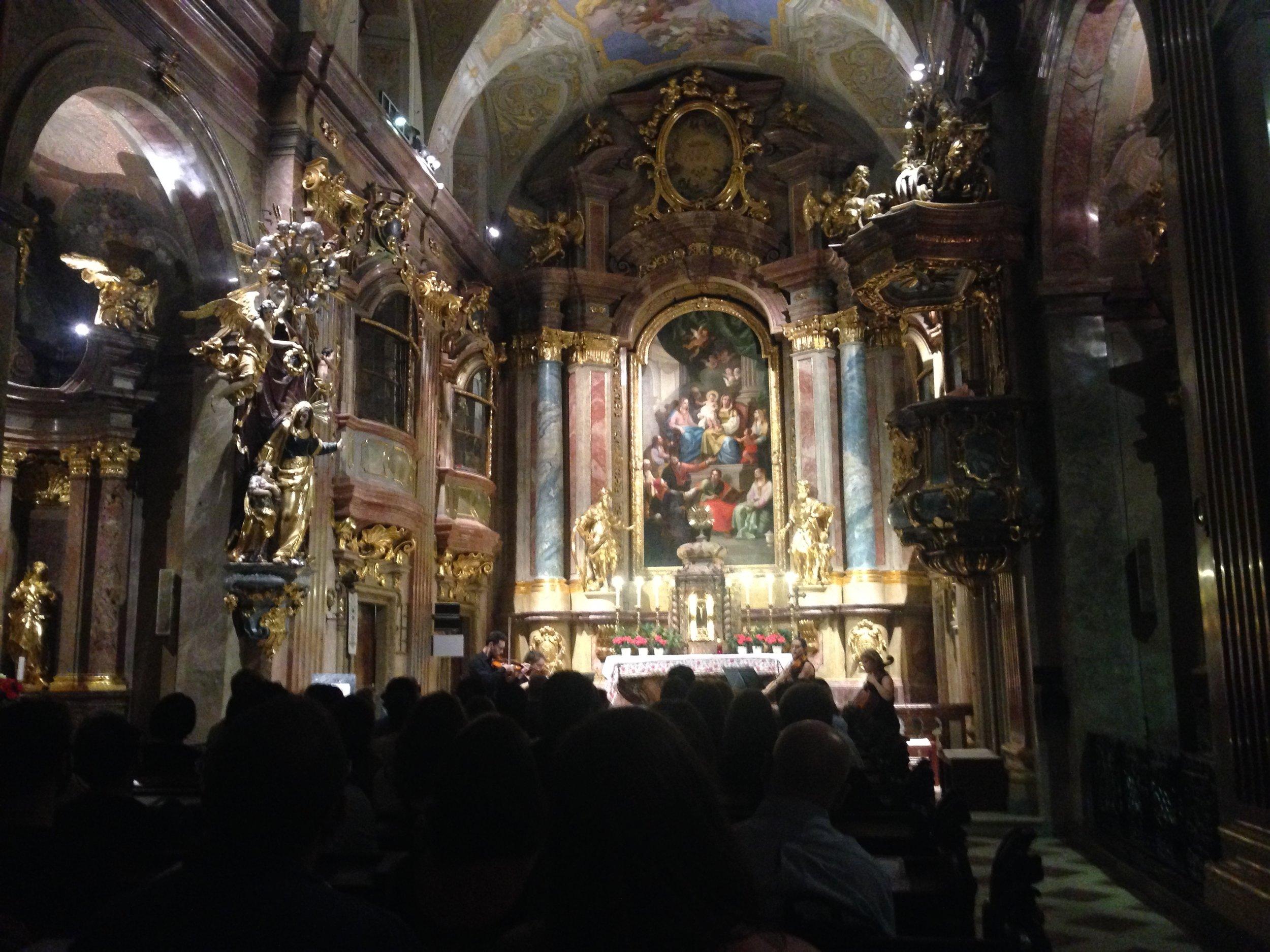 Concert de Mozart dans l'église Anna Kirche