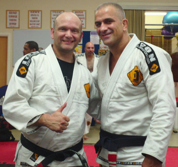 Black Belt and Icon Norwich Head Instructor, Steve Cowan and BJJ and MMA Legend, Mario Sperry.