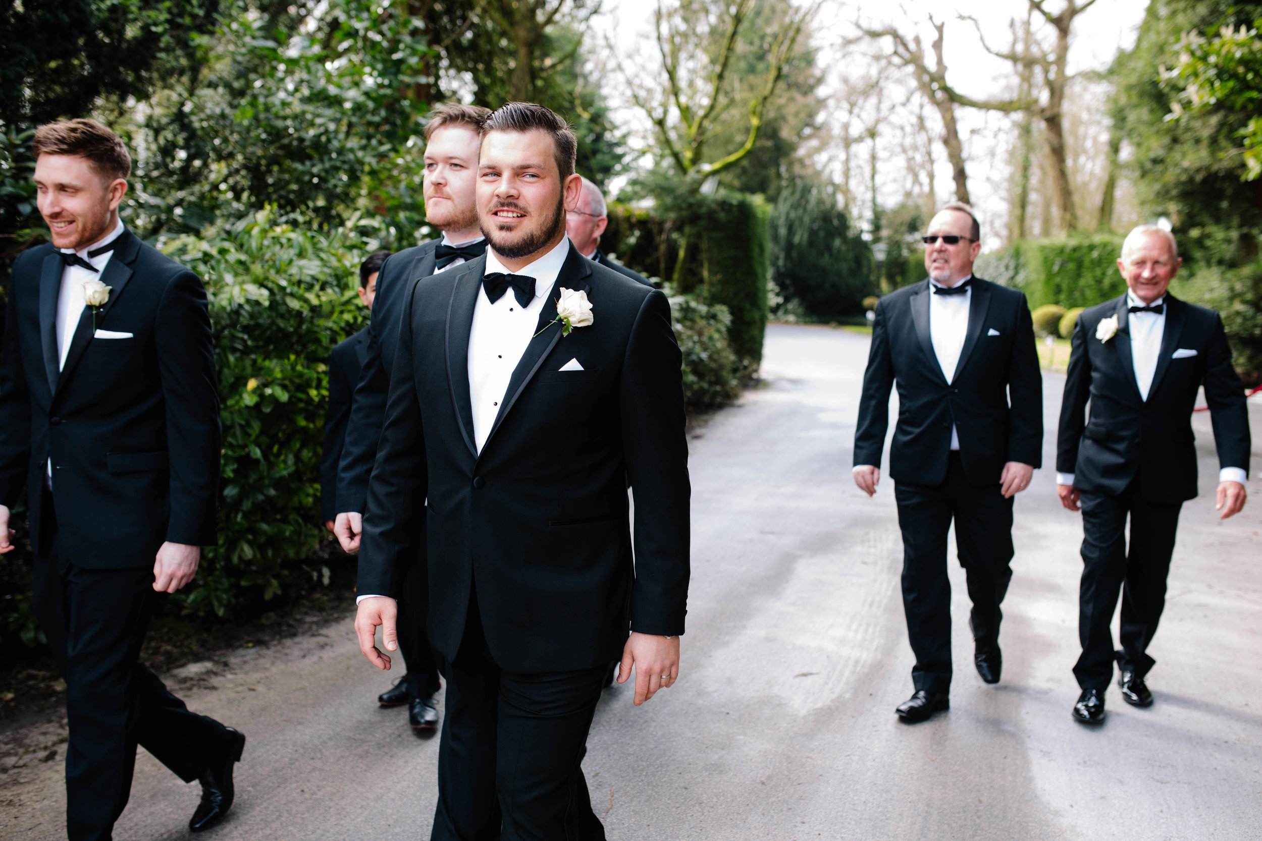 Groomsmen pictures Matt Herrington Wedding Photographer Lancashire North West